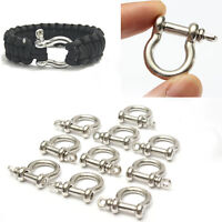 10X O-Shaped Stainless Steel Shackle Buckle For Paracord Survival Bracelets Gift