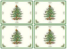 Pimpernel NEW Spode Christmas Tree Cork Hardback Placemats, Set of 4