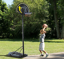 "44"" Backboard Basketball Hoop System Stand Adjustable Height In/Outdoor w/Wheels"