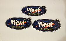 West In Space Tabak Sticker Aufkleber 3er Set St. selten rar Reklame