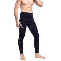 Men Black Wetsuit Pants 2mm Neoprene Warm Kayak Canoe Surf Scuba Diving Trousers