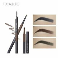 Focallure Eyebrow Pencil 3 In 1 Waterproof Brow Shades Brush Powder No Tone
