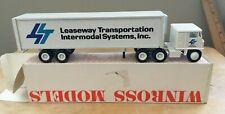 Winross White COE Leaseway Tractor/Trailer  1/64
