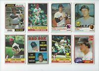 1970s Topps Boston Red Sox 16 Card Lot Fisk Evans Yastrzemski