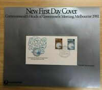 SP58a) 1981 Australia Post Poster First Day Cover Commonwealth Heads Meeting