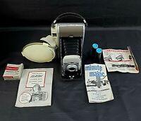 Polaroid Land Camera Model 80 In Case Vintage With Booklets Flash Orange Filter