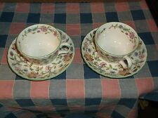 Minton Haddon Hall  2 Cup and Saucers  Great Condition