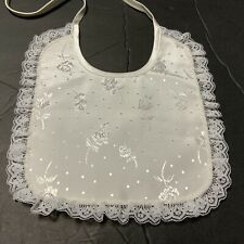 Christening Baptism Bibs Girls Lace Cotton NEW no Tags