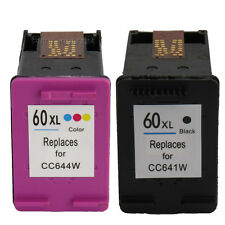 2 Pack Ink Cartridge for HP 60 Deskjet F2480 F4283 F2400 F4280 D1660 F4210