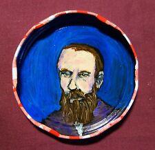 FYODOR DOSTOYEVSKY, Jam Jar Lid Portrait, New Orleans Outsider Art by PETER ORR