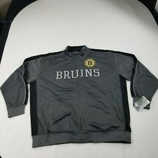 Boston Bruins Men's Track Jacket 3x Nhl Hockey Zip-Front Long Sleeves New aad