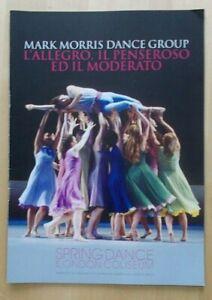 L'Allegro Il Penseroso... programme Mark Morris Dance Group London Coliseum 2010