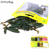Artificial Soft Lures 5cm/1g Carp Fishing Worms 50pcs/lot Fishing Baits Set New