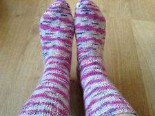 New Hand knitted wool socks women's ladies size 4-5 75% wool, bed socks, warm