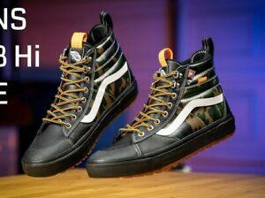 Vans SK8-Hi Boot MTE 2.0 DX Leather Black/Camo Skateboard Men's Shoes AUTHENTIC