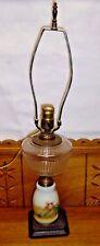 Electrofied Antique Kerosene Lamp w/ Milk Glass Insert