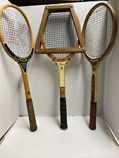 3 Wood Tennis Rackets Racquets Lot Wooden Vintage Wilson Chemold Davis
