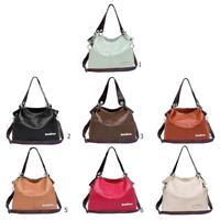 Damen PU Leder Handtasche Lässige Schulter Handtasche Tote Satchel Messenger Bag