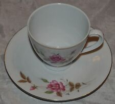 Vintage Tea Cup and Saucer - Roses - Made in China Rose