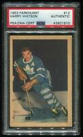 1953 PARKHURST HARRY WATSON AUTO SIGNED PSA/DNA HOF LEAFS