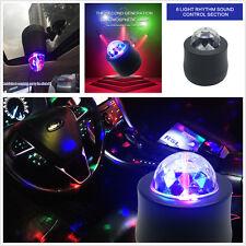 USB Car Music Rhythm Sound Disco DJ Stage Interior Light LED RGB Ball Lamp Light
