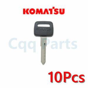10pcs Fits Komatsu excavator key Uncut with Logo