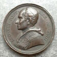 Medaglia Vaticano Leone XIII 1895 Fondazione collegio Anselmiano 39,29gr 44mm