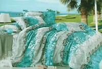luxton aqua green grey double / Queen / KING size doona cover / Quilt Cover Set