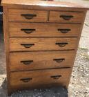 1950s Ranch Oak Brandt Cowboy Monterey Western Style 6 Drawer Highboy Dresser
