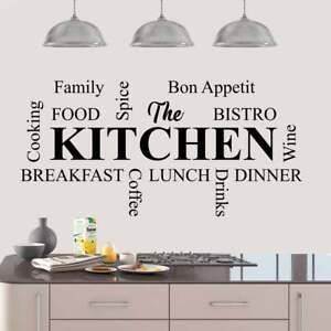 Wall Stickers Quotes The Kitchen is a Heart of the Home Art Decal removable DIY