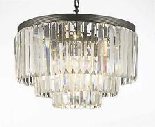 Odeon Crystal Glass Fringe 3-tier Chandelier Chandeliers Lighting