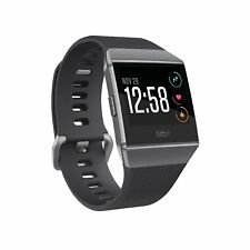 NEW Fitbit IONIC Smartwatch CHARCOAL/GRAY FB503GYBK One Size S & L BANDS INCLUDE