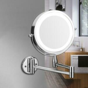 """7"""" LED Makeup Mirror 1X 3X Magnification Cosmetic Shaving Bathroom Wall Mounted"""