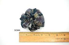 Silk Scrunchies Ponytail Holder Elastic Ties Hair Band Black Purple Floral SC044