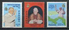 37244) Panama 1983 MNH Pope J. Paul II 3v Scott #623/25