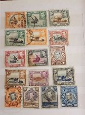Kenya Uganda Tanganyika 1954-59 collection of 16 different used stamps of KG VI