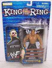 """New! 1999 Jakk's Pacific King Of The Ring """"The Rock"""" Action Figure WWF WWE [870]"""