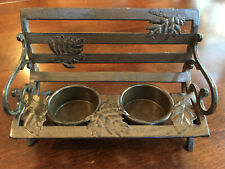 Yankee Candle Bronze Metal Bench (Double) Tealight Holder NEW