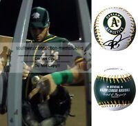 Josh Phegley Signed Autograph Oakland Athletics A's Logo ROMLB Baseball Proof