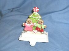 #1808 - CHRISTMAS STOCKING HOLDER, HANGER - GINGERBREAD COUPLE - CANDY TREE
