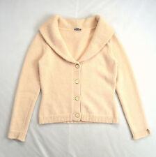 Dusty Pink Angora Wool Soft Knit ANN TAYLOR Shawl Collar Cardigan Sweater Top S