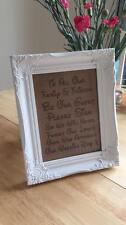 Personalised Engraved  Frame