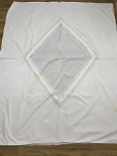 Vintage Antique Envelope Opening Duvet Cover Linen Lace Single Rhombus Diamond