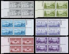 United States Plate Blocks Scott 998-1003 (1951) Mint NH VF, CV $6.60 W