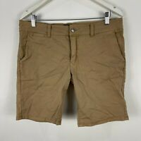 Common Need Mens Shorts 32 Khaki Brown Chino Pockets