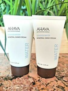 Ahava MINERAL HAND CREAM Deadsea Water Moisturizing Lotion TRAVEL 1.3oz ~ 2 PACK