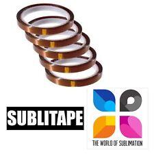 5 Rolls Heat Resistant Tape Sublimation Press Transfer Sublitape 4mm X 33m