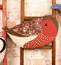 VINTAGE STYLE BIRD CUSHION 'ROSIE' INCLUDES INNER RED BROWN BY SASS & BELLE