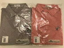 2 Large New Scotty Cameron Gallery Release Red Donkey & Gray Peace Surfer Polo