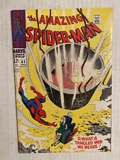 Amazing Spider-Man 61 Marvel 1968 First Qwen Stacey Cover Appearance